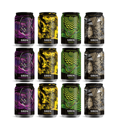 12 Mixed case of Siren Cans only £24