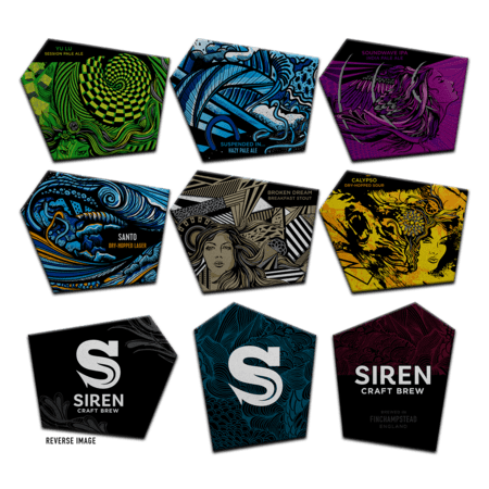 8 Pack Siren Beer Mats