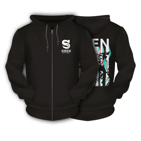 Black Illusion Siren Zipped Hoodie