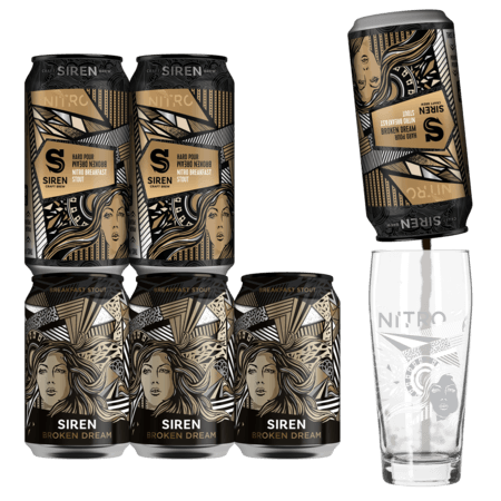 Broken Dream Nitro Taster 6 Pack + Nitro Glass