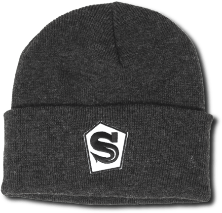 Dark Grey Pentagon Logo Beanie