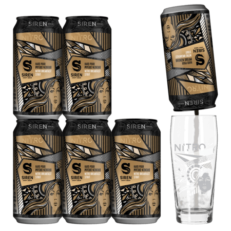 Hard Pour Broken Dream 6 Pack + Nitro Glass
