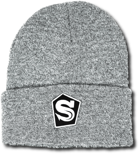 Light Grey Pentagon Logo Beanie