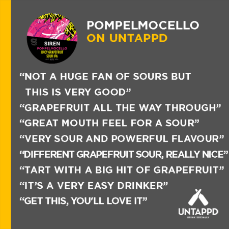 Pompelmocello Juicy Grapefruit Sour IPA | 6% | 440ml - Siren