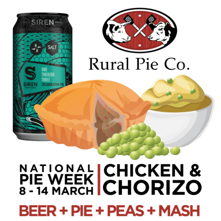 Rural Pie Pairing - Chicken & Chorizo
