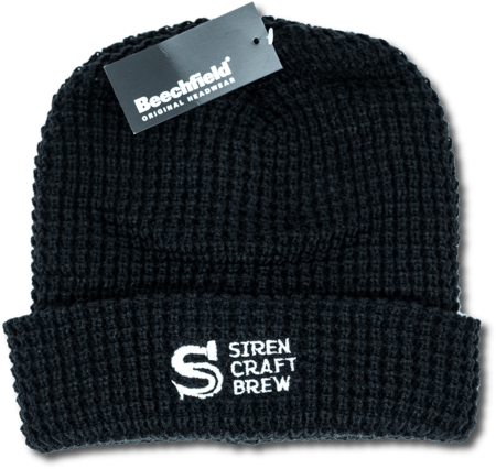 Siren Chunky Waffle Knit Black Beanie (Investor Exclusive)