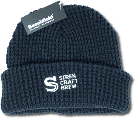 Siren Chunky Waffle Knit Blue Beanie (Investor Exclusive)