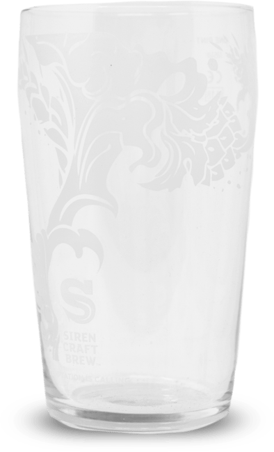 Siren Craft Brew Pint Glass