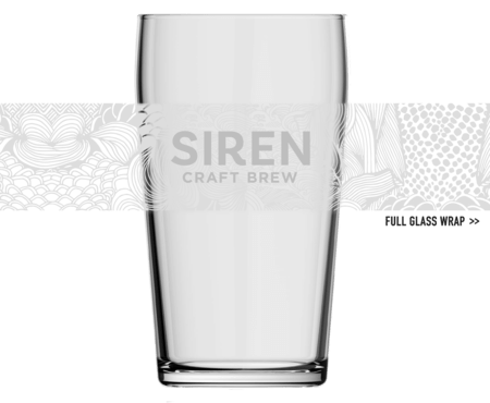 Siren Pattern Pint Glass