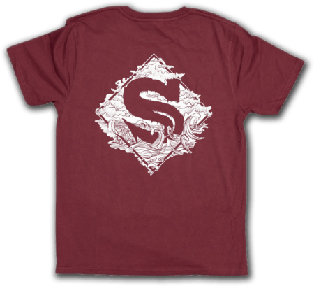 Siren T-shirt (Burgundy)