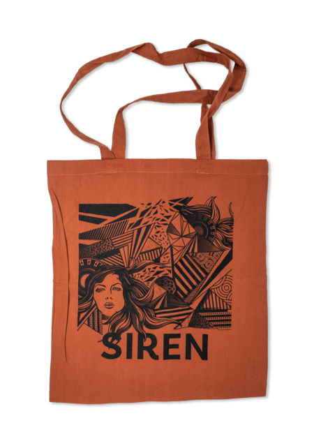 Siren Tote Bag - Orange Rust