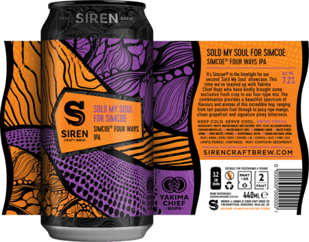 Sold My Soul For Simcoe Simcoe® Four Ways IPA | 7.2% | 440 - Siren