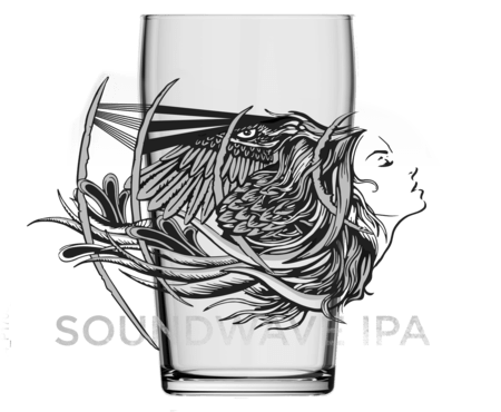 Soundwave IPA Pint Glass