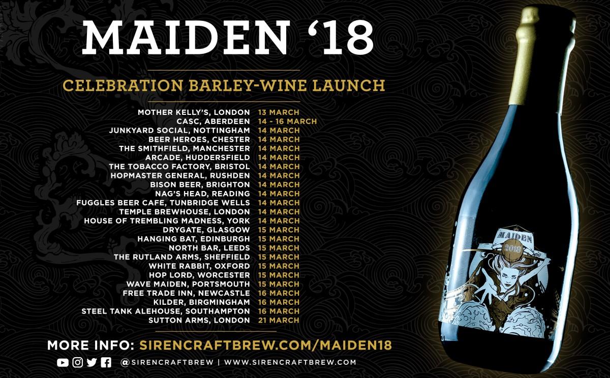 Introducing Maiden '18 | Siren Craft Brew
