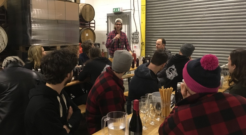 Brett from The Wild Beer Co talks about their blending philosophy. Maiden Blending Day 2017.